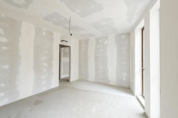 Blank walls being painted